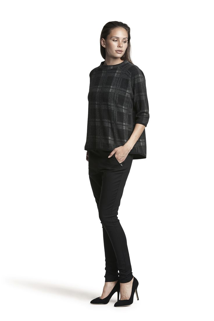 Gill top and Gwynneth stretch pant #grey #black #pattern #relaxed #fashion #cosy #warm #AW15