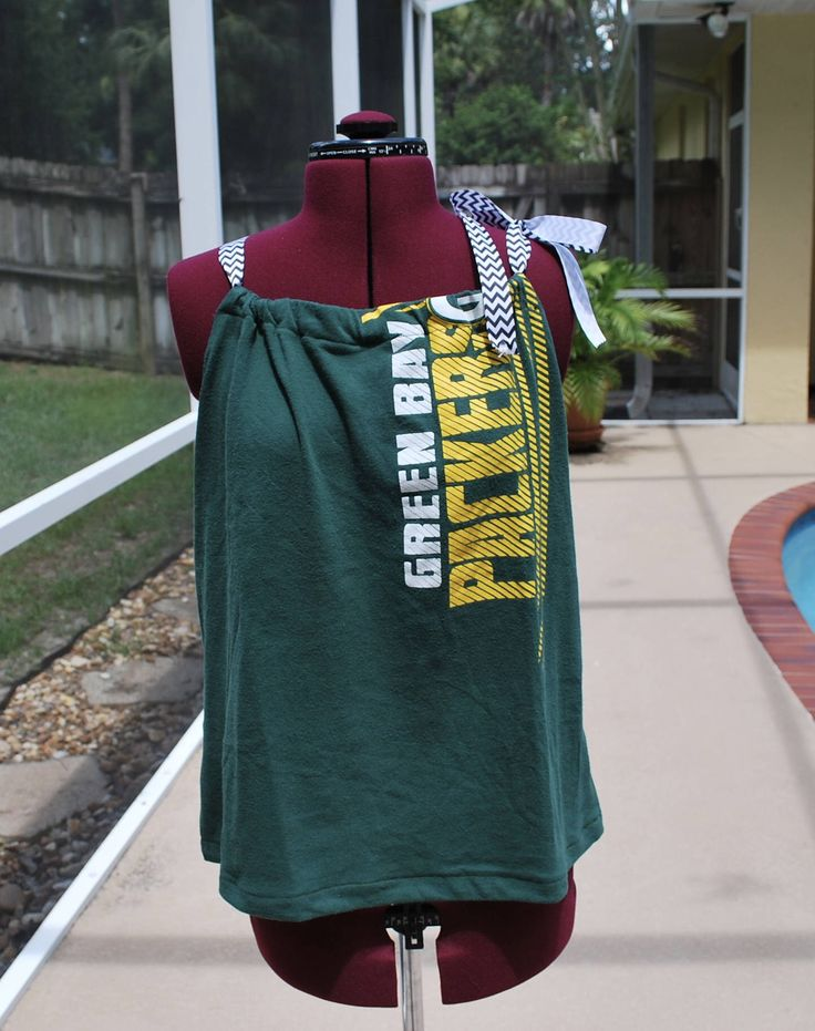 A personal favorite from my Etsy shop https://www.etsy.com/listing/527449472/green-bay-packers-upcycled-womens-tank