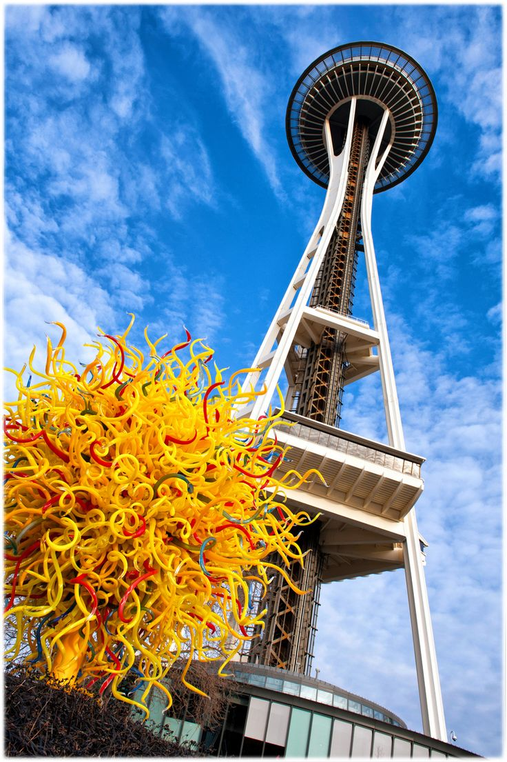 """Chihuly Glass Museum - Seattle. The yellow, red, green swirls = all glass! The museum was the ultimate """"wow"""" factor."""