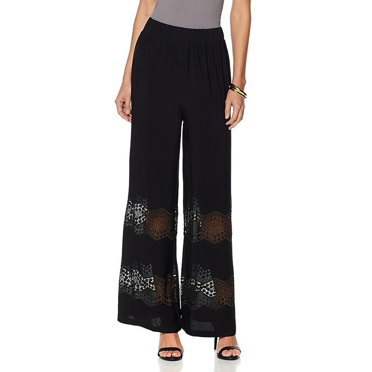 Colleen Lopez Sunny Coast Lace Pant - Black