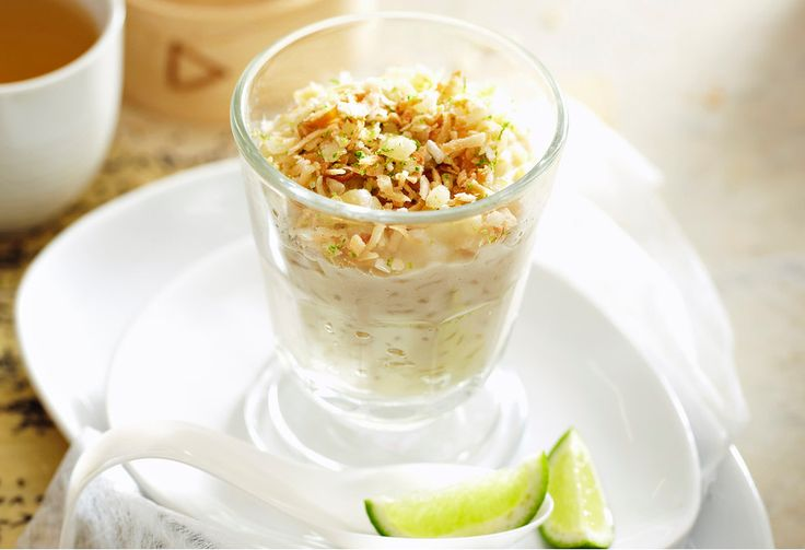 A creamy rice dessert that's infused with delicate Thai flavours.