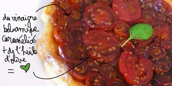 Tatin de tomates cerises caramélisées au vinaigre balsamique