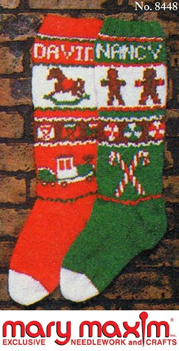 Gingerbread Men And Rocking Horse Stockings Christmas