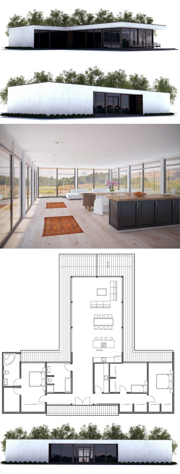 Modern Contemporary Architecture. Floor Plan from ConceptHome.com