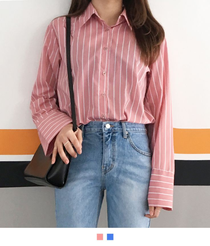 Create a superb casual style with the help of this eye-catching striped shirt! It features a pointed collar, a button-down closure, extended sleeves, and wide buttoned cuffs. Complete the mod look by pairing this shirt with your flared slacks and sexy sli