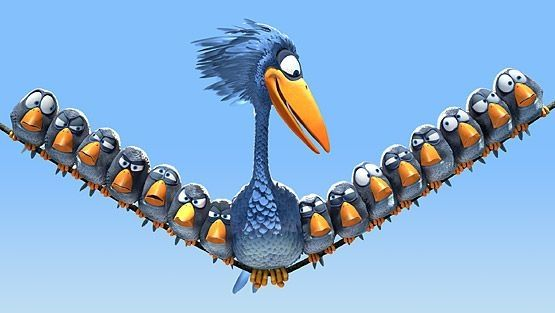 """Pixar ---- lol I totally heard their little """"chirping"""" noise as soon as I saw this picture"""