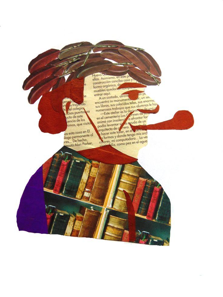 Objetos + papel volantín + revista. Pablo Neruda