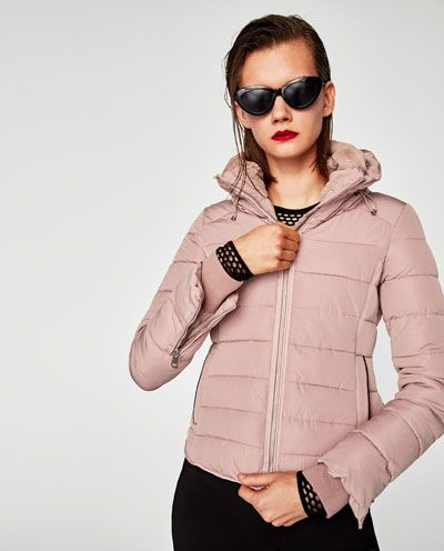 Image 2 of QUILTED JACKET WITH HIDDEN HOOD from Zara