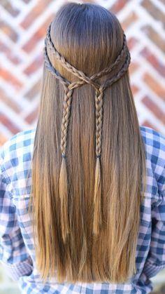 Double Braid Tie-Back | Cute Girls Hairstyles