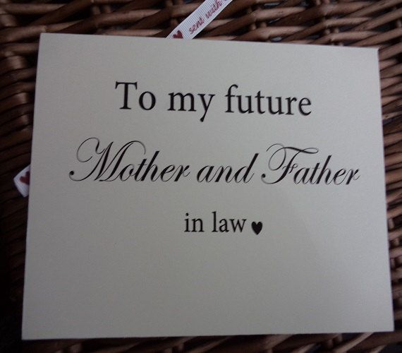 To my future mother and father in law by WeddingCreationsShop