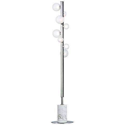Hudson Valley Mini Hinsdale Polished Nickel 8-LED Floor L& - #21W70 | L&s  sc 1 st  Pinterest & 66 best Floorlamps images on Pinterest | Floor lamps Floor standing ...
