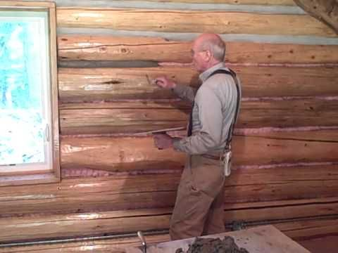 Amazing Martin Cabin 6 3 09 Chinking Log Walls