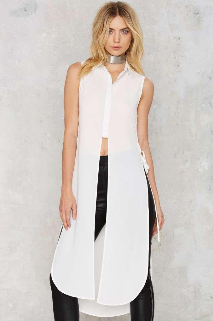Ileana Lace-Up Maxi Top - Clothes | Winter White | Tanks
