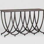 Transitional Iron Console Table. This is interesting.