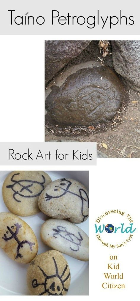 Taíno Petroglyphs: Hispanic Culture & Rock Art for Kids. This is great for Hispanic Heritage Month, or anytime for a cultural activity in Spanish class. Kids love this multicultural craft and the materials are easy/free!