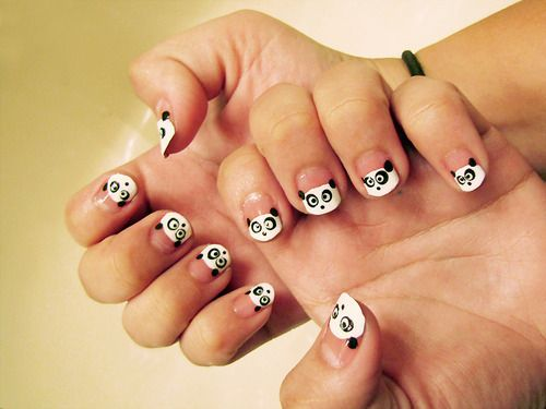 Best 25 panda bear nails ideas on pinterest panda nail art my abstract cute panda nail design picture a part of 40 collections of cute prinsesfo Image collections