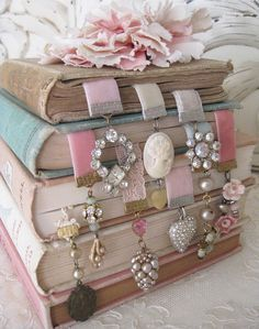 book marks!  So beautiful. I should make and sell these at a craft show!