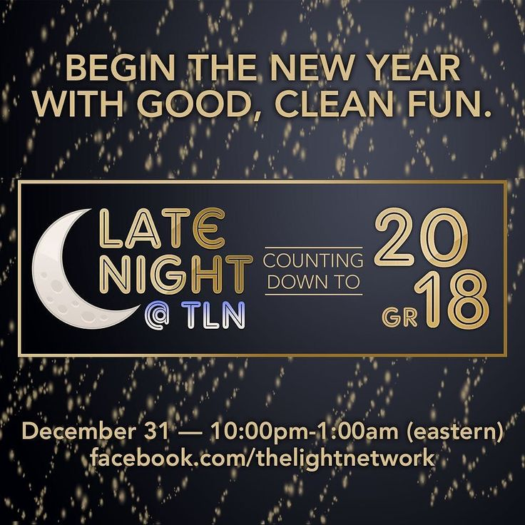 "Ring in 2018 by laughing with (and at) the hosts of Late Night at TLN! The ""Late Night at TLN Countdown to 20-GR18"" begins New Year's Eve at 10 PM eastern and will be streamed via Facebook Live. See you there!"