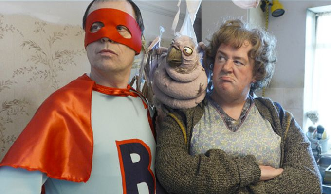 """Let's get physical! Sky to air a series of slapstick comedies (Autumn 2015):  """"In Ruby Robinson, a morality tale written by comic Mike Wozniak, Kim Cattrall plays Ruby, who lives in a huge, isolated and dilapidated house with a troupe of unusual acrobat helpers who perform seemingly impossible physical feats.  Made by Miranda Hart and David Walliams's company King Bert Productions, it co-stars Wozniak as Ruby's scheming nephew and Cariad Lloyd as his wife."""