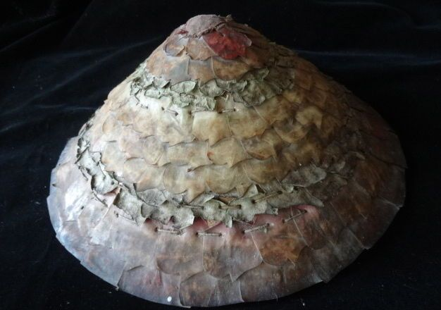 Tribe Batak Fish Scale Hat Hand Made Lake Toba Sumatra Collectable Art Collector #Tribal