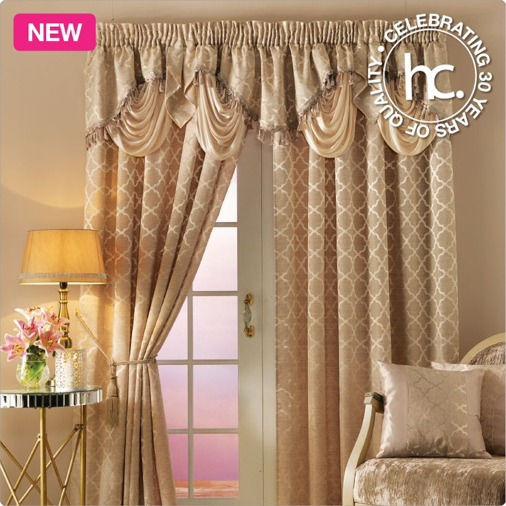 Drape your room with the luxurious quality of the Nagano jaquard curtains.
