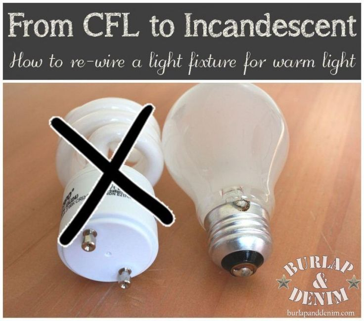 Vintage How to REwire a light fixture from CFL to Incandescent