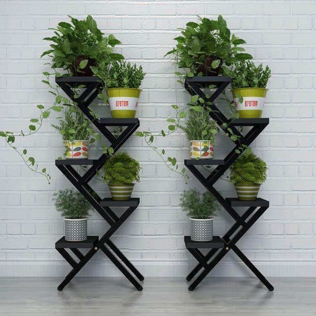 Online Shop 5 Pots Balcony Indoor Flower Pot Holder Garden Flower
