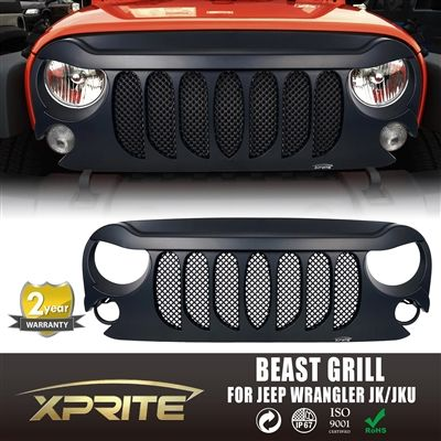 Xprite Beast Grille with Built-In Mesh for 2007-2017 Jeep Wrangler JK $180