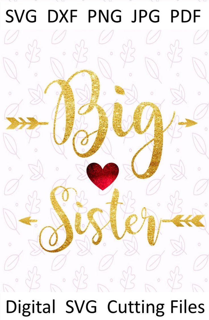 Excited to share the latest addition to my #etsy shop: Big sister #Svg #Babygirl svg for #Silhouette #Bigsister #dxf Sibling #SVGforshirt Girls svg for #Cricut cut file Big sister #vinyl svg design #gold #babyshower #bigsistersvg #sistersvg #babygirlsvg #svgforsilhouette #bigsisterdxf