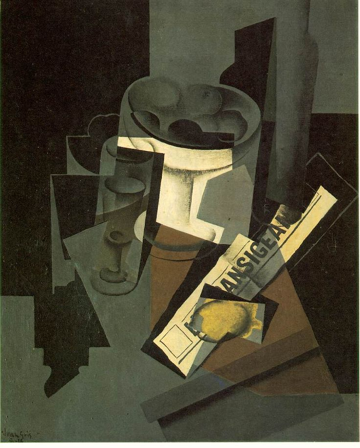 The Bottle of Banyuls - Juan Gris - WikiPaintings.org