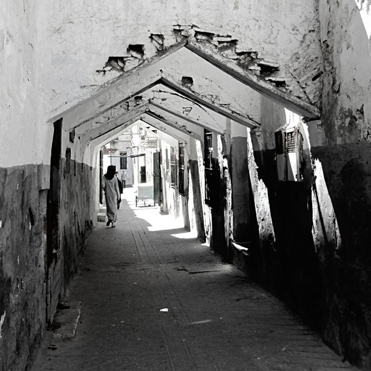 ruelle du mellah (quartier juif) de Tetouan, dont la medina est inscrite au patrimoine mondial.