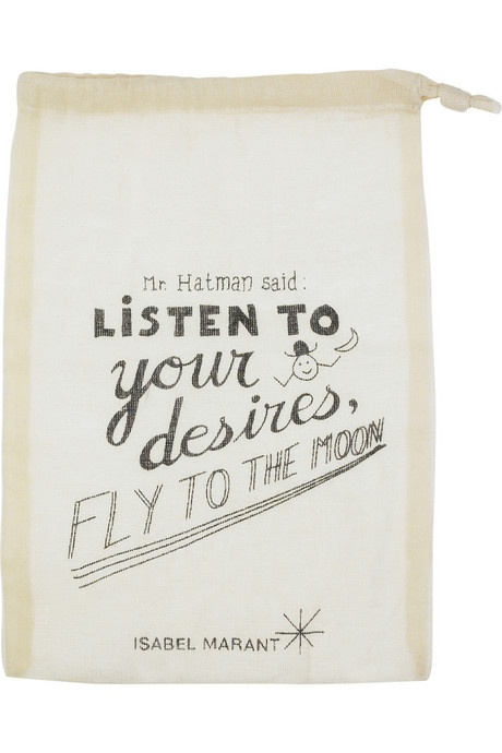 Isabel Marant packaging. Cute typography, and of *course* I love the moon part :D