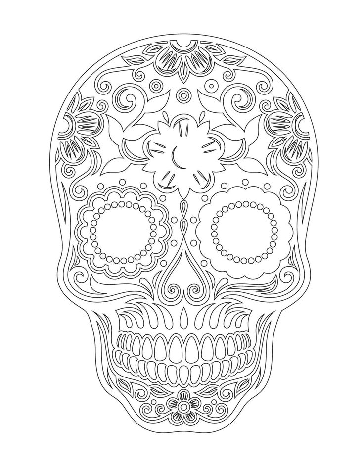49 best Skull coloring 7 images on Pinterest | Coloración adulta ...