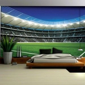 Shops wallpaper murals and football on pinterest for Baseball stadium mural wallpaper