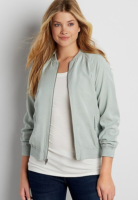 lightweight bomber jacket | maurices