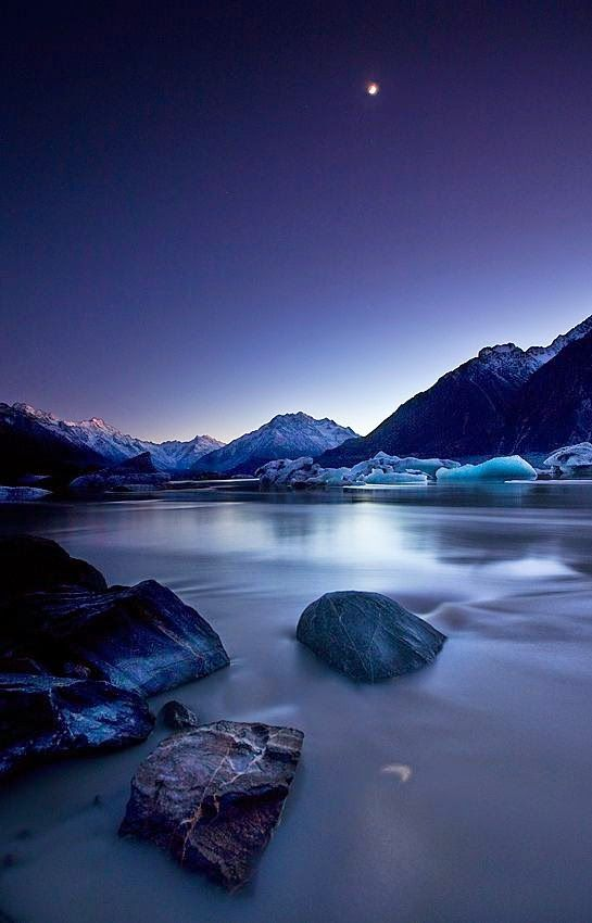 Moonlight, Mount Cook, New Zealand
