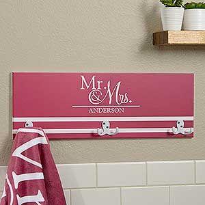 Wedded Pair Personalized Towel Hook