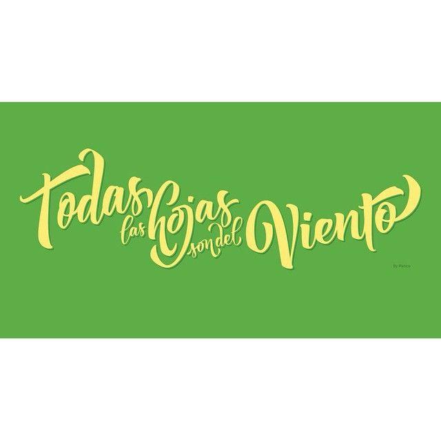 La genialidad del Flaco por Paco Sassano desde Instagram #Spinetta #todaslashojassondelviento #lettering #vector
