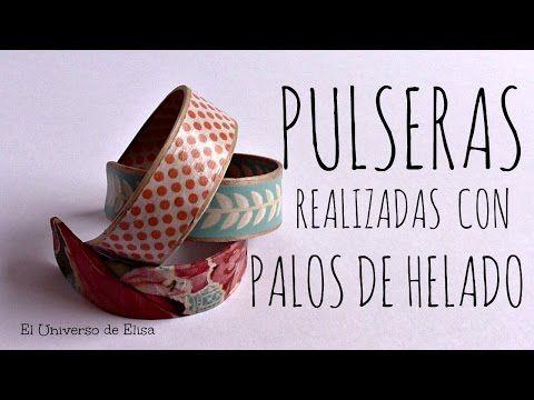Cómo hacer Pulseras con Palos de Helado, Washi Tape y Servilletas de Papel | El universo de Elisa