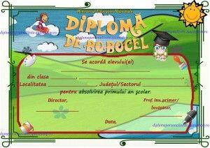 diploma de bobocel clasa I - clasa pregatitoare