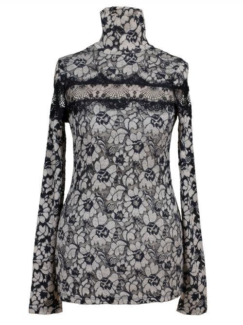 Damen Spitzenshirt, schwarz von Fashion Elle bei www.meinkleidchen.de