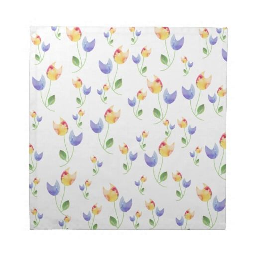 Pretty Watercolor Flowers Pattern Napkins
