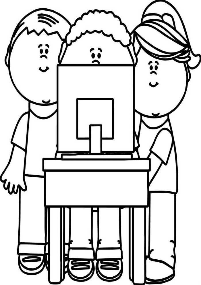 Computer Coloring Pages Printable Coloring Pages Kids Computer