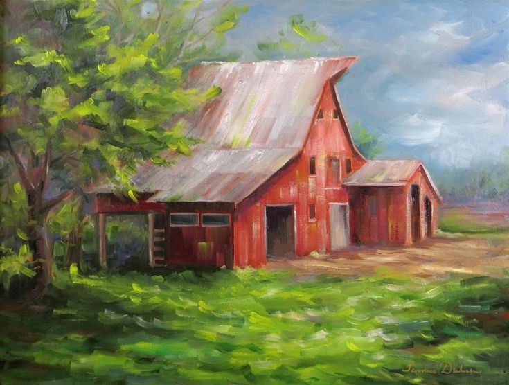 445 best PRETTY PAINTINGS - BARNS & OLD HOUSES images on ...