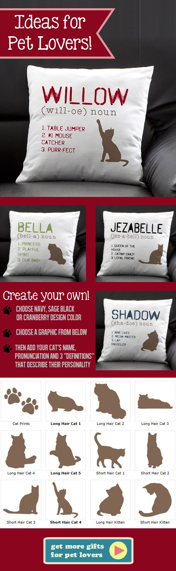 Personalized pet pillows!