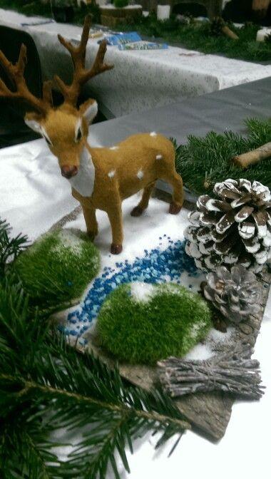 Christmas deer decoration.