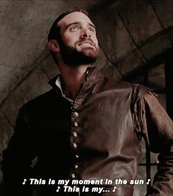 Galavant getting interrupted (GIF set)