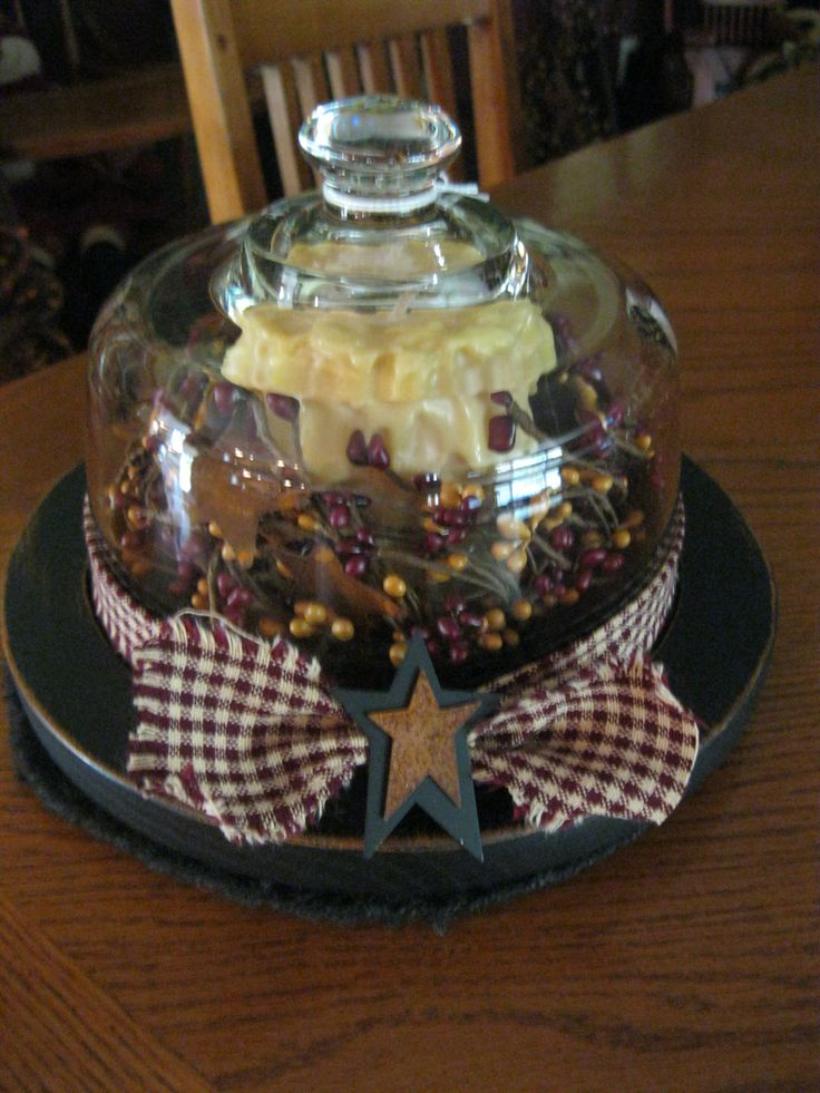 Cheese Plate Candle-I have one just like this I just need to prim it up!