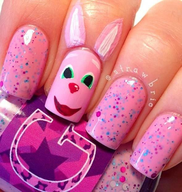 46 Easter Nail Art Designs and Ideas For 2019 #easternail