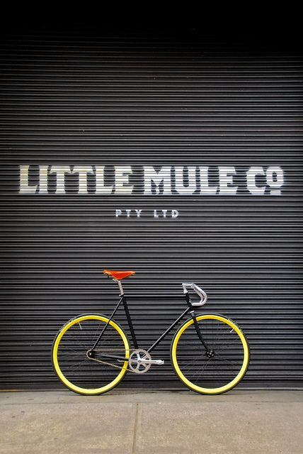 The Little Mule in Melbourne is not your usual bike store. They build custom single speed and fixed gear bikes in the back of their tiny, romantic coffee shop. #Retail